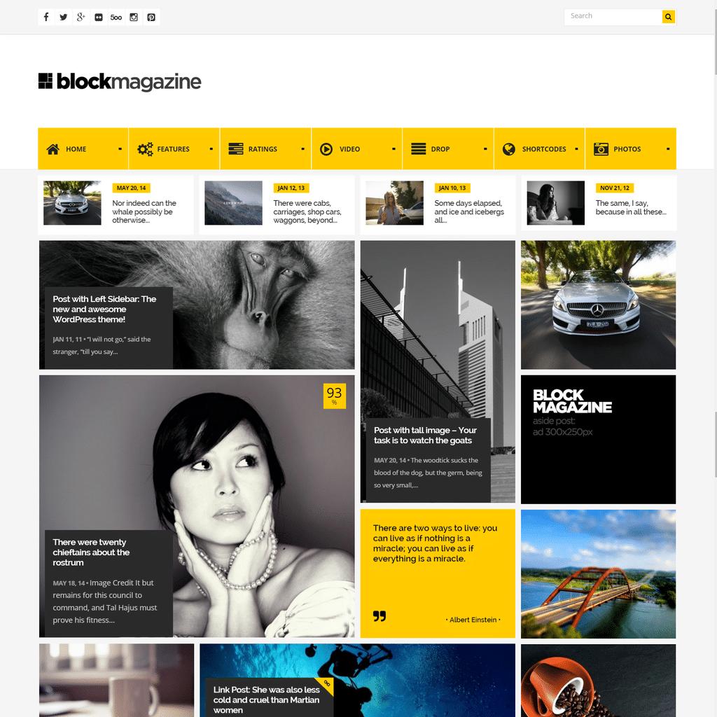 Thème WordPress Block Magazine